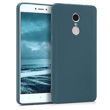 kwmobile Funda para Xiaomi Redmi Note 4 / Note 4X - Carcasa para móvil en TPU Silicona - Protector Trasero en petróleo Mate