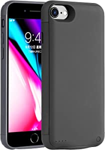 Battery Case for iPhone 8/7/6s/6/Se,[7000mah] Mah Portable Protective Charging Case Extended Rechargeable Battery Pack Charger Case Compatible with Battery Case for iPhone 8/7/6s/6/Se(4.7 Inch Black)