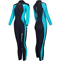 Hevto Wetsuits Men and Women Guardian 3mm Neoprene Full Scuba Diving Suits Surfing Swimming Long Sleeve Keep Warm Back…