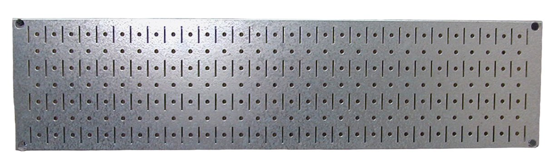 Wall Control 30-GP-0832 GV Narrow 8'' x 32'' Galvanized Metal Pegboard Runner Tool Board