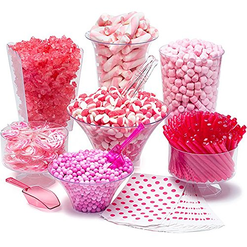 Pink Candy Kit - Party Candy Buffet Table: 25 to 50 -