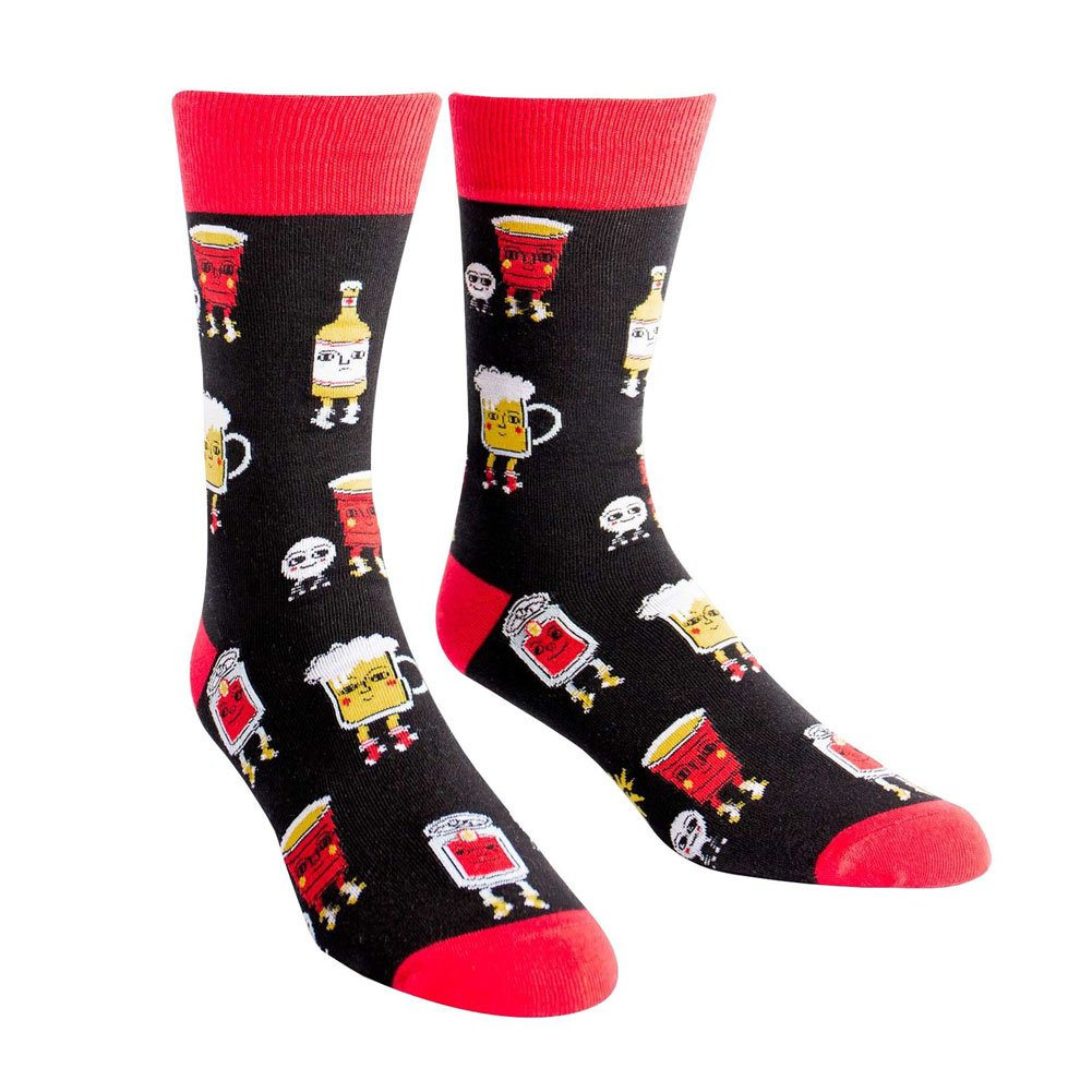 Sock It to Me Men's Crew Socks Beer Pong
