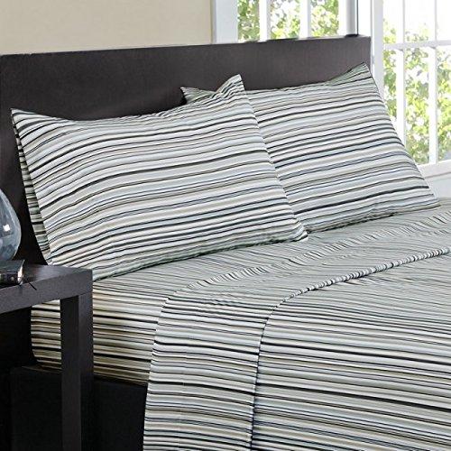 (Intelligent Design ID20-610 Multi Stripe Sheet Set Full Natural,Full)
