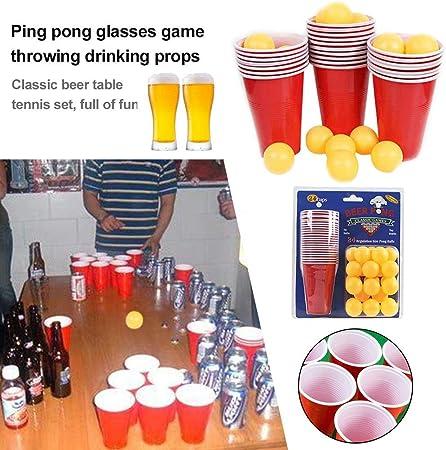 Juegos de Lanzamiento de Tenis de Mesa de Cerveza, Juegos de la Copa de Vino de