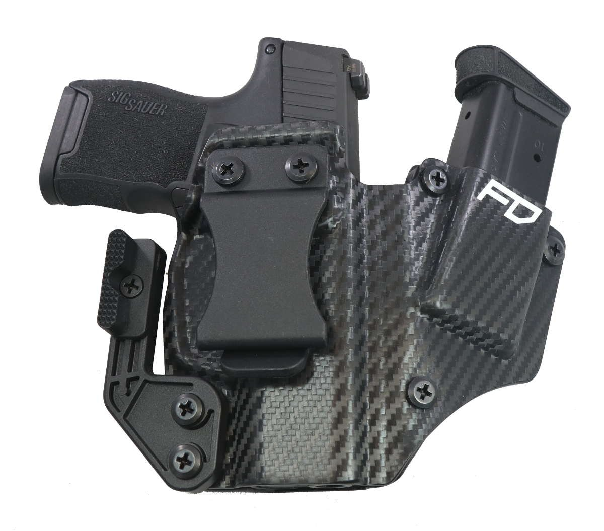 Fierce Defender IWB Kydex Holster Sig P365 +1 Series W/Claw -Made in USA-