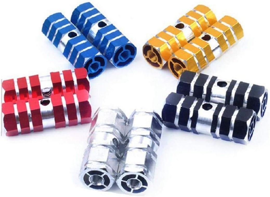 1 Paire Essieu Pied Pegs Stunt P/édale Dessieu P/édale en Alliage Daluminium Pied Stunt Pegs Cylindre pour VTT Faire du V/élo-argent/é