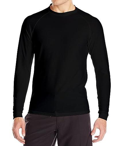 37fe48e1097c0 Loose Fit Swim Shirts For Men - Long Sleeve UV 50 + Sun Protection Swimwear  -