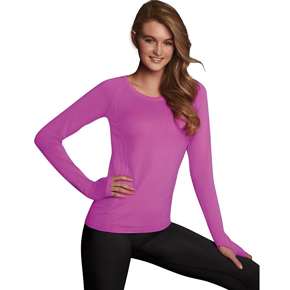Maidenform Women s Seamless Sport Baselayer Thermal Crewneck Top at Amazon  Women s Clothing store  d93a311ec