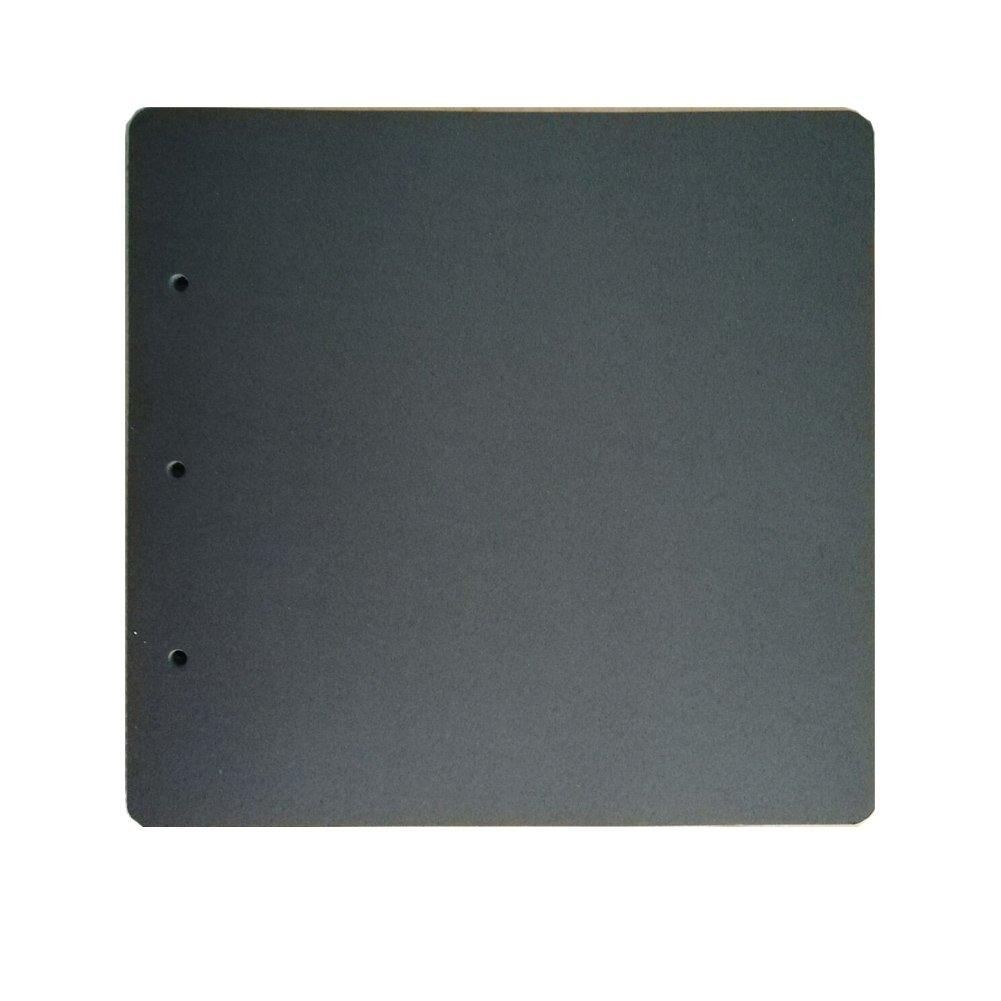 Guwheat - Recambio para á lbum de recortes, 20 hojas (26 x 25,5 cm), color negro