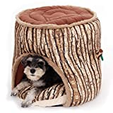 PAWZ Road Pet Dog Bed Old Tree Bark Stump Design Cave Bed Review