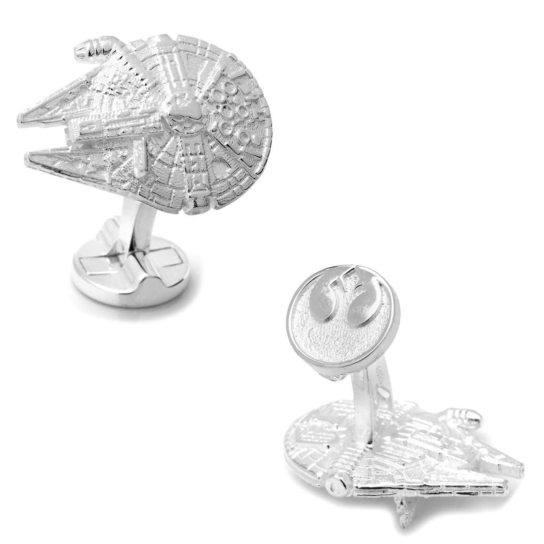 Star Wars Millennium Falcon Silver Cufflinks in Star Wars Gift Box