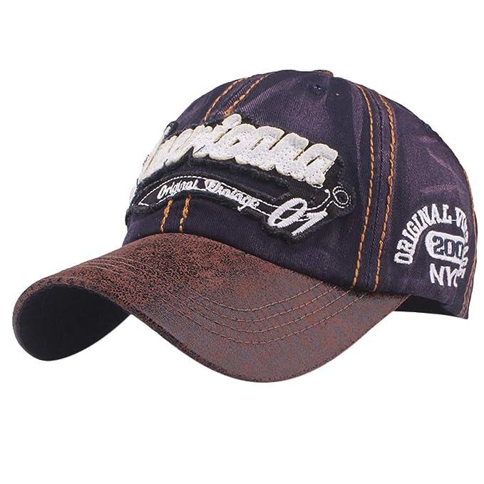 Zarupeng Gorras Beisbol Deportes Unisex Adjustable al Aire Libre Cap Clásico Algodón Sombrero Gorras de Béisbol (Armada1): Amazon.es: Ropa y accesorios