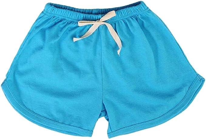 Wofupowga Boys Sports Girls Cute Striped Elastic Waist Shorts