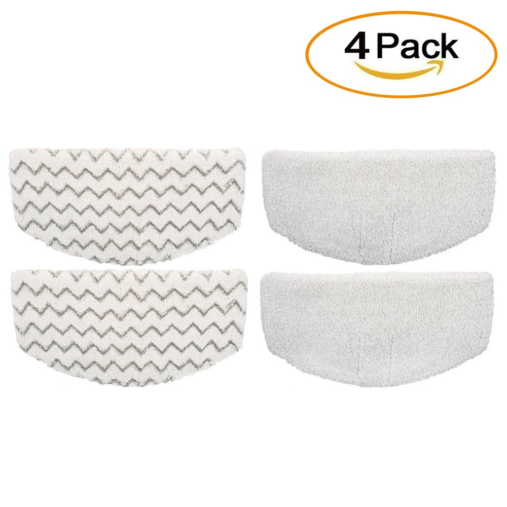 eTzone Steam Mop Pads Replacement for Bissell Microfiber Powerfresh Steam Mop 1940 1440 1544 Series, Model 19402 19404 19408 1940A 1940Q 1940T 1940W-4 pcs
