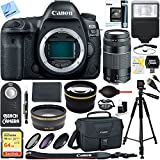 Canon EOS 5D Mark IV 30.4 MP Full Frame CMOS DSLR Camera (Body) & 75-300mm Lens Ultimate Bundle