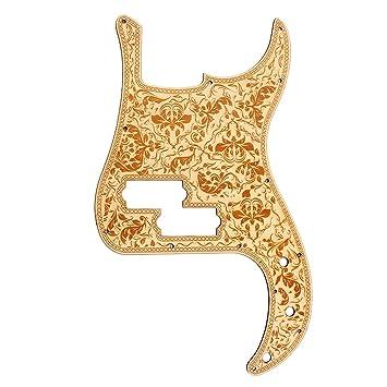 Gazechimp Pickguard Guitarra Eléctrica Scratch Placa para PB Bajo Piezas Recambio Protección de Bajo Durable
