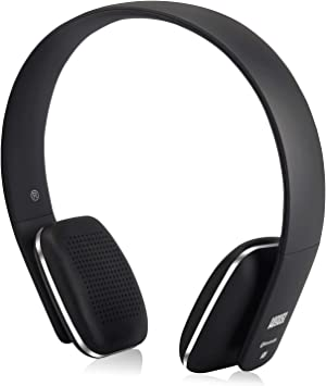 August EP636 - Auriculares Bluetooth de Diadema Casco Inalámbrico NFC con Micrófono Manos Libres para Teléfonos, Tabletas y Ordenadores, color Negro: Amazon.es: Electrónica