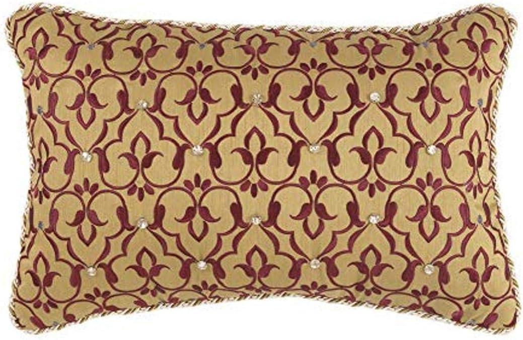 Croscill Arden Boudoir Pillow, Red