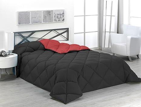 Edredon Nordico Rojo.Sabanalia Edredon Nordico De 400 G Reversible Bicolor Para Cama De 135 150 Cm Color Rojo Y Negro