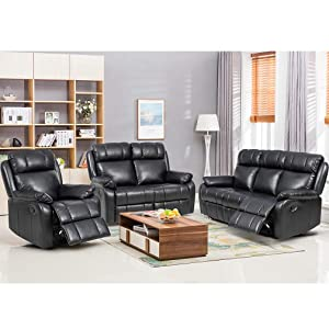 FDW Recliner Sofa Set Sectional Sofa
