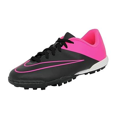 hot sale online 7ce5e 329ee Nike JR Mercurial Vortex II TF Chaussures de Football Fille Enfant Noir Rose