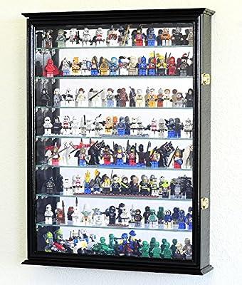Large Lego Men Minifigures /Star Wars / Disney / Minature Figurines Display Case Cabinet w/Adjustable Shelves
