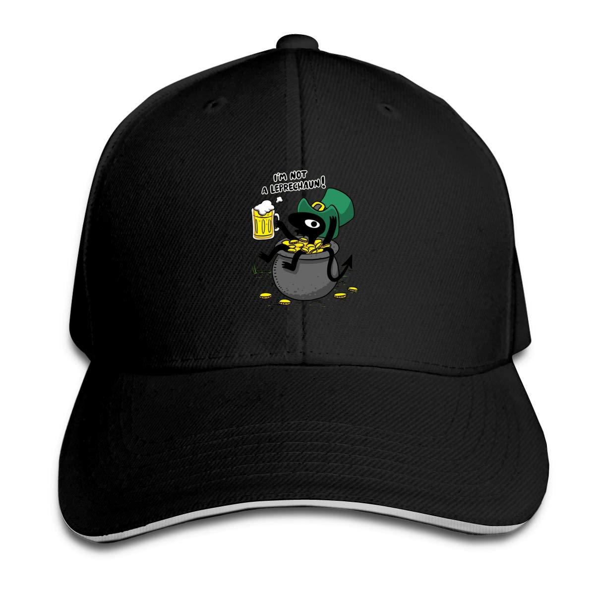 Im Not A Leprechaun Classic Adjustable Cotton Baseball Caps Trucker Driver Hat Outdoor Cap Black
