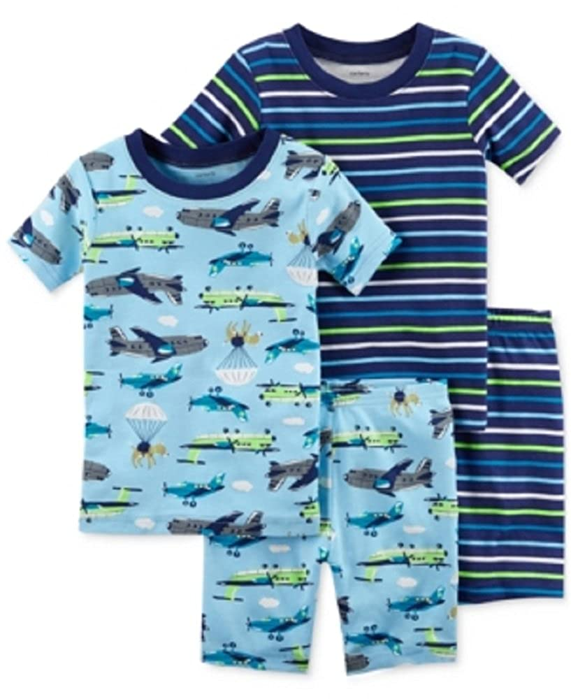 6 Months Carters 4-Pc Baby Boys Plane-Print Cotton Pajama Set