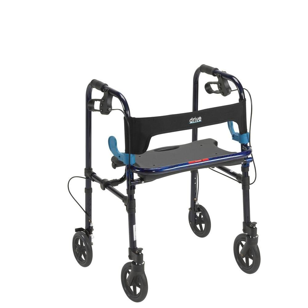 8 in. Wheels Adult Clever Lite Walker Rollator