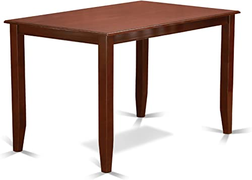 Buckland Counter Height Rectangular Table 30 x48 in Mahogany Finish
