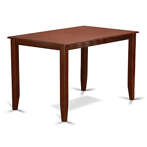 East West Furniture BUT MAH T Counter Height Rectangular Table, 30 Inch
