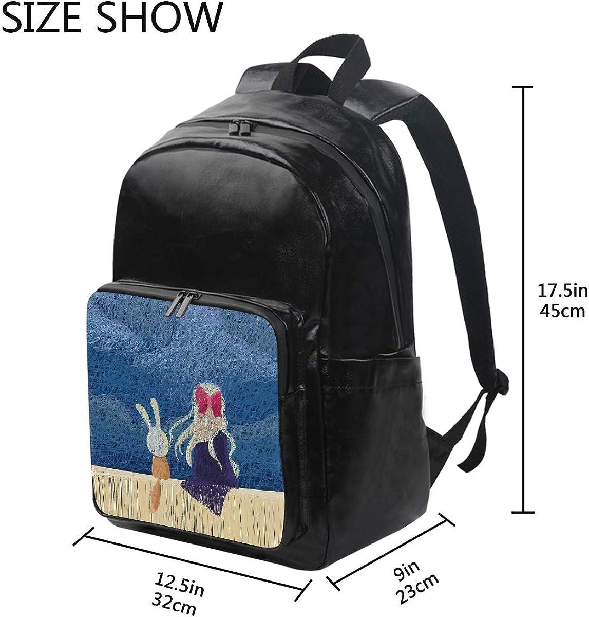 Mr.Brilliant Cute Girl Rabbit Moon Bookbag Daypacks Backpack 2060858
