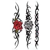 King Horse étanche et à la sueur de tatouage autocollant rouge sexy rose noire a augmenté pour les femmes