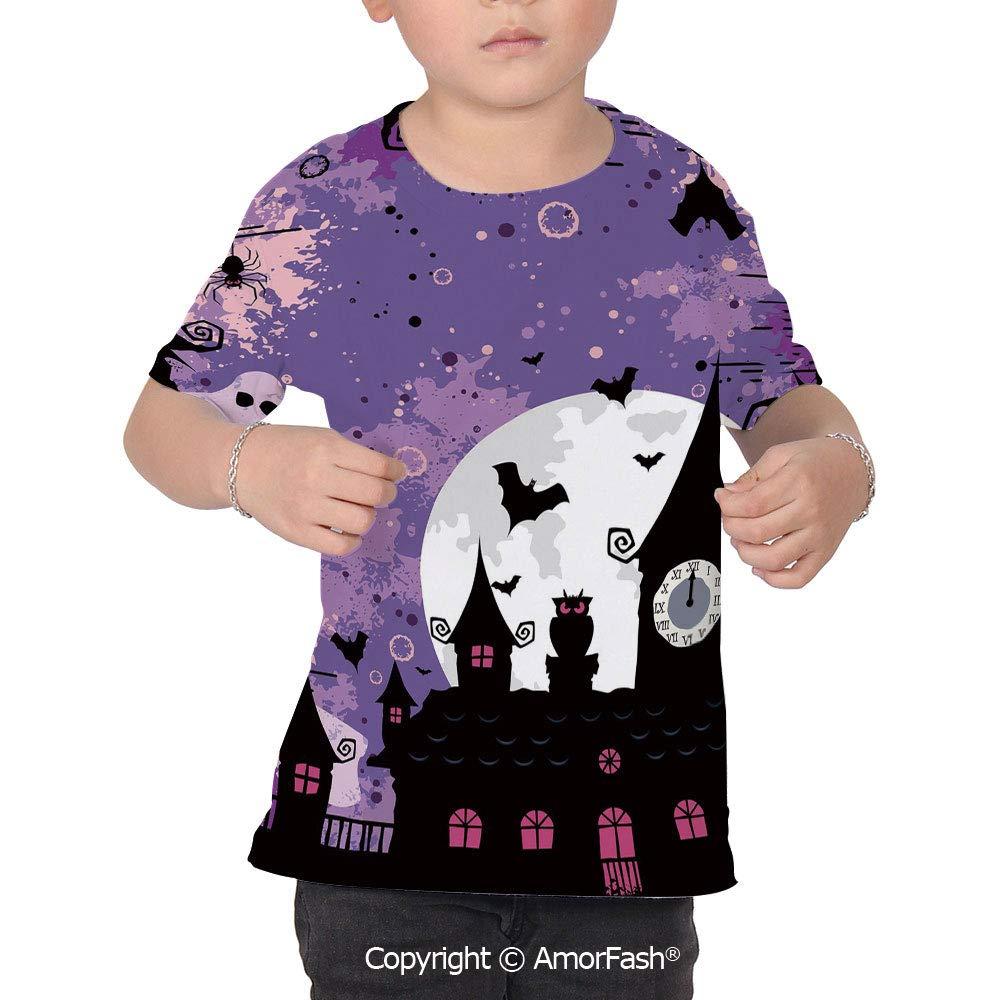 Vintage Halloween Boys and Girls All Over Print T-Shirt,Crew Neck T-Shirt,Hallow
