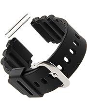 Gilden for Casio/Seiko 22mm Extra-Long Black Polyurethane Watch Strap 017275