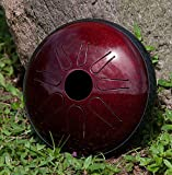 IDIOPAN LUNABELL 8'' TUNABLE STEEL TONGUE DRUM - RUBY RED