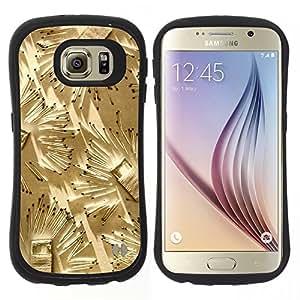 """Hypernova Slim Fit Dual Barniz Protector Caso Case Funda Para Samsung Galaxy S6 [Partidos Arte Fuego profundo Metáfora Significado""""]"""