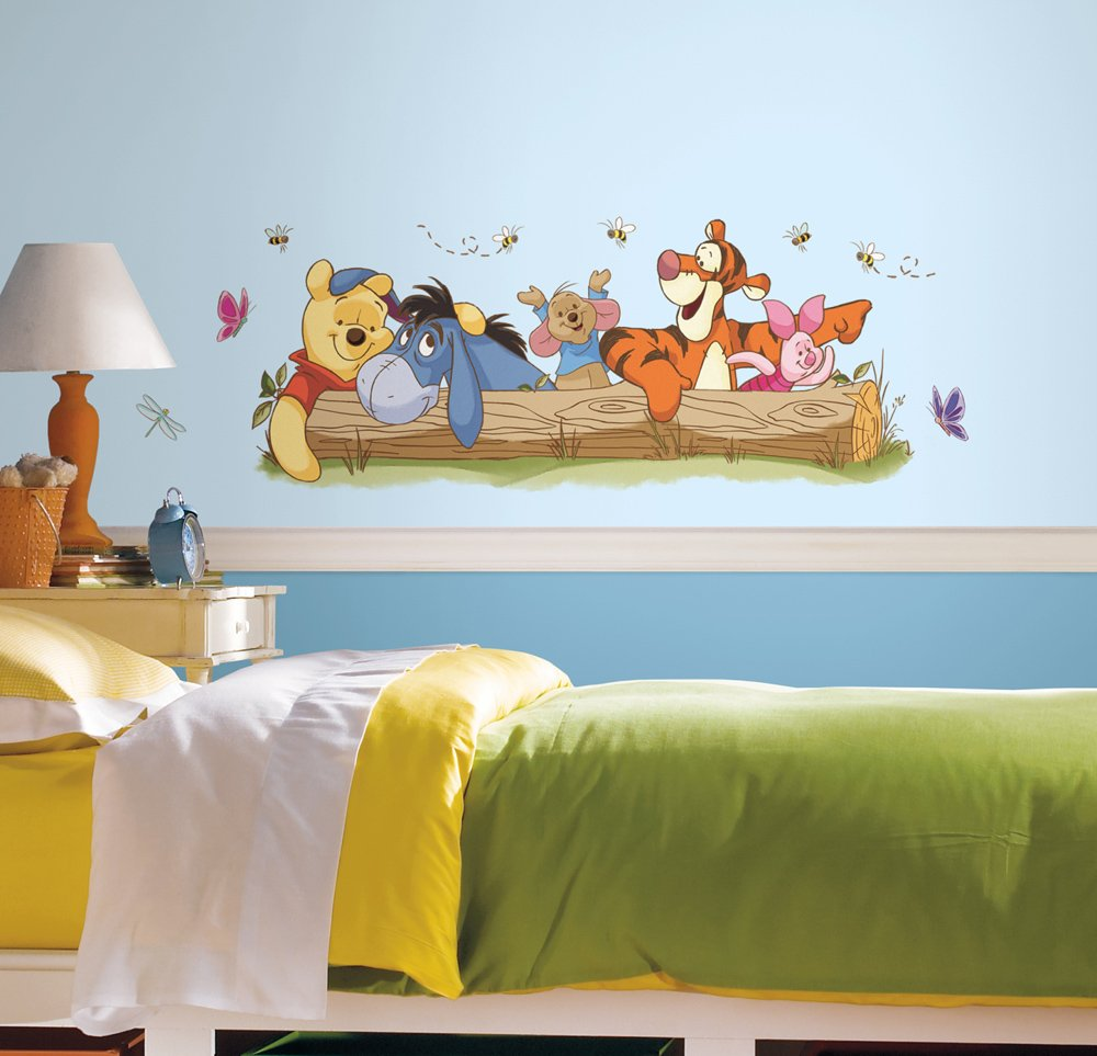 RoomMates RMK2553GM Winnie The Pooh Outdoor Fun Peel and Stick Giant Wall Decals