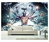 Buddha With Thousands Hands Print Tapestry Indian Holy Buddhism Yoga Meditation Mat Magical Tricks Wall Hanging Wall Decor Boho Hippie Mandala Beach Throw Table Sofa Cover Bedspread Table Cloth