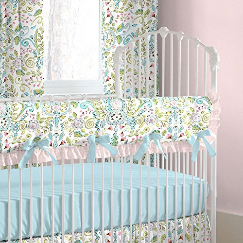 Love Bird Crib Bedding (Carousel Designs Love Birds Crib Rail Cover)