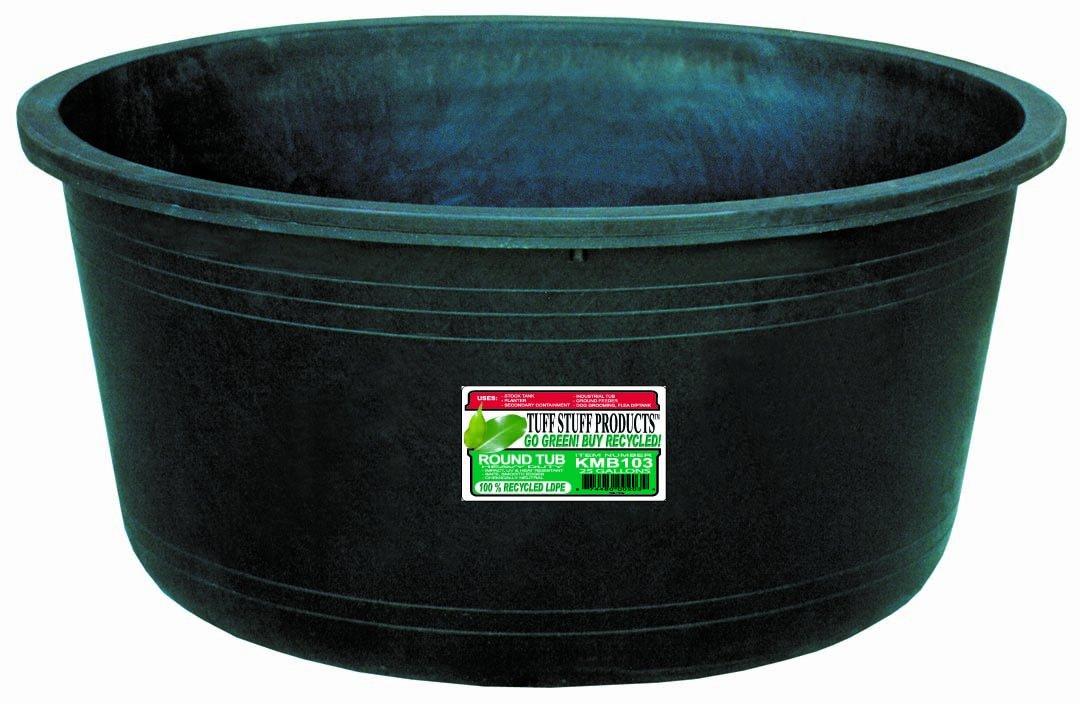Amazon.com : Tuff Stuff Products KMB103 Circular Tub, 25-Gallon ...