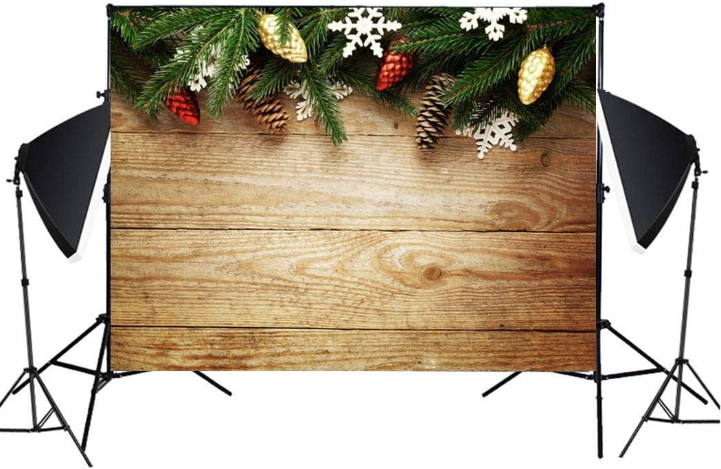 wekold Imitation Wood Grain Photography Props 3D Photo Background Cloth Presentation Pointers