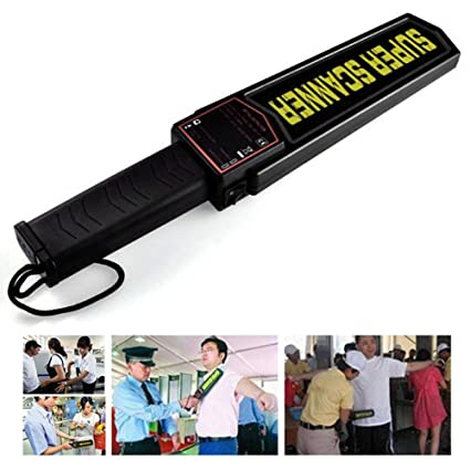 LIPOVOLT Handheld Metal Detector Portable Security Super Scanner Wand Airport Scan