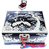 Jewelry Boxes Organizers Music Boxes 2 Darwers Mother of Pearl Gift Items LM35Black