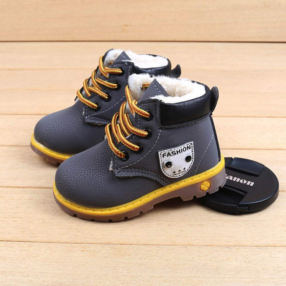 Baby Toddler Infant Boys Girls Martin Boots Fall Winter Casual Shoes Warm Snow Boots Ankle Boots 1-6 Years Old