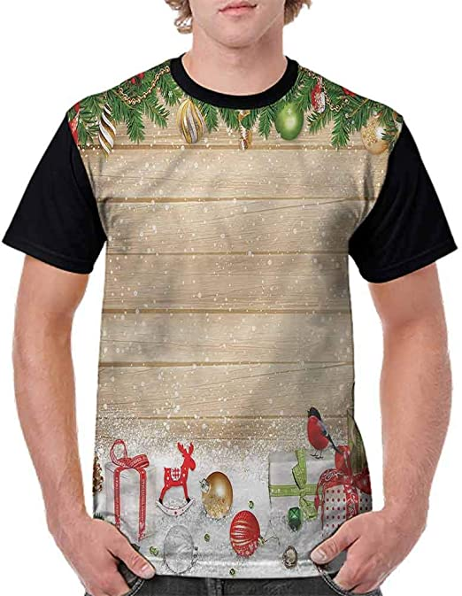 Trend t-Shirt,Tree Branches Cones Fashion Personality Customization