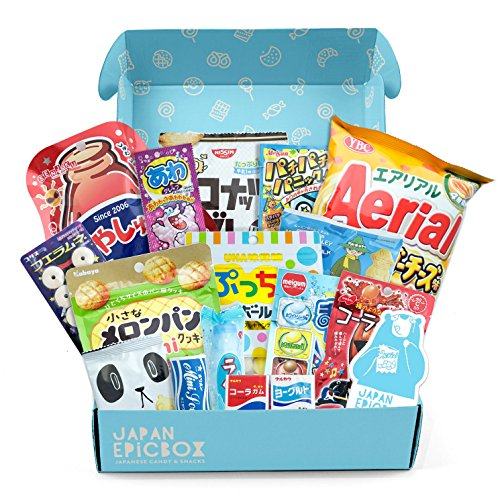 "Premium Japanese Snack Box | Variety Assortment of Japanese Candy and Snacks | College Care Package | Gift Care Package - ""Japan EPICBOX"" by Nook Supply & Co. by Nook Supply & Co."