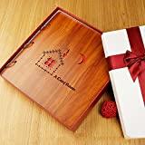 diy handmade wood album / creative birthday gift / baby baby growth book / paste record album ( Style : B3 )