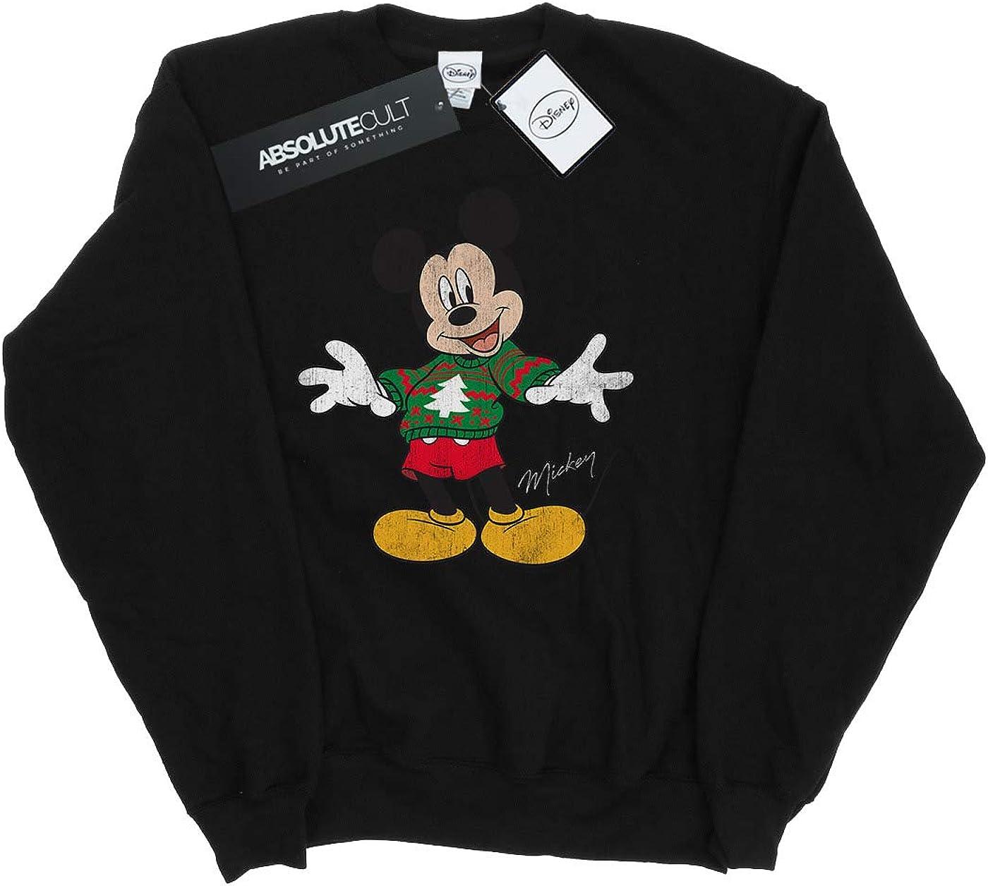 : Disney Boys Mickey Mouse Christmas Jumper