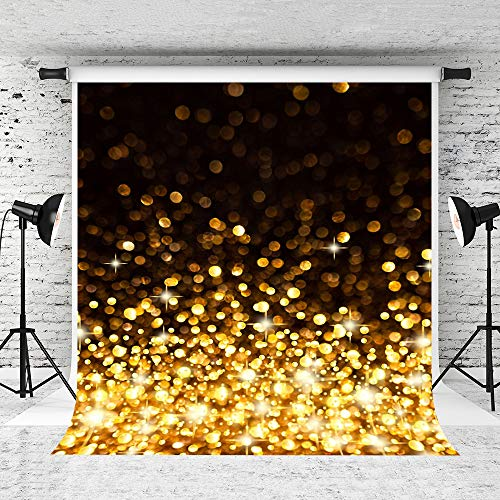 Kate 5x7ft Gold and Black Backdrops Golden Shining Backdrop Stage Decoration Background Photography Props